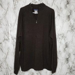 Patagonia Sweaters - Patagonia 1/4 Zip Wool Men's Sweater Brown Sz XL
